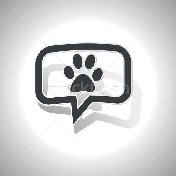 Curved animal message icon Stock photo © ylivdesign