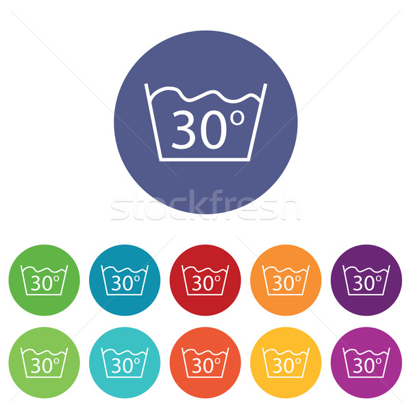 30 degrees wash colored set Stock photo © ylivdesign