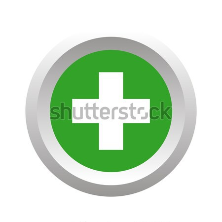 Add round button, volumetric Stock photo © ylivdesign
