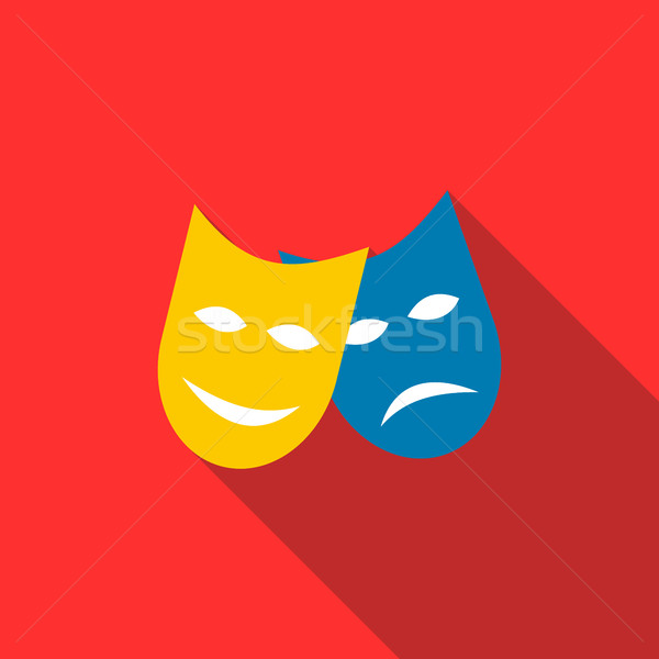 Two masks icon in flat style Stock photo © ylivdesign