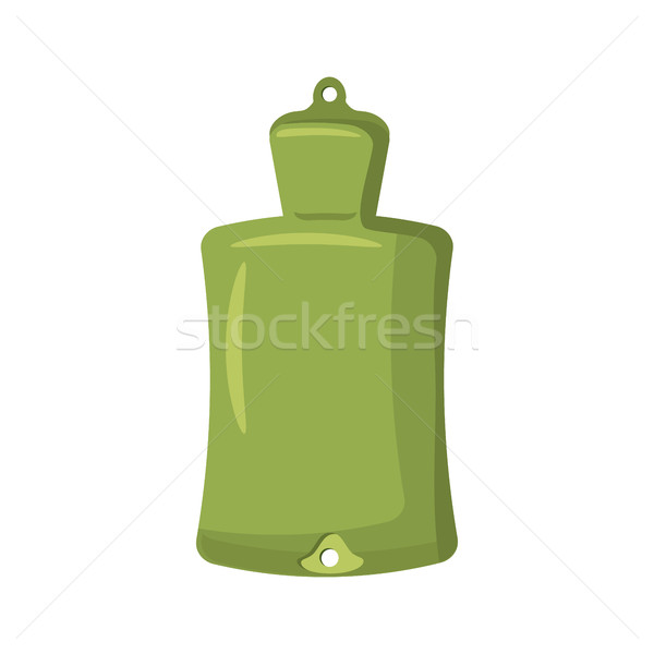 Green rubber warmer icon, cartoon style  Stock photo © ylivdesign