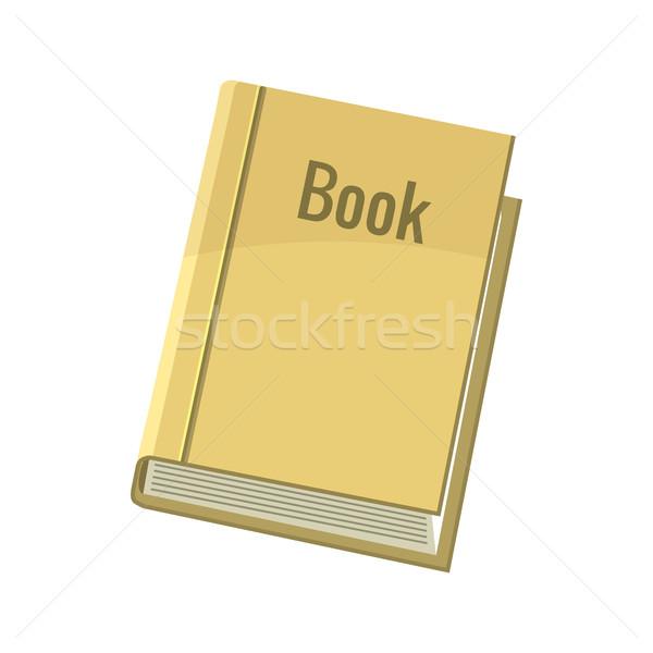 Könyv ikon rajz stílus fehér papír Stock fotó © ylivdesign