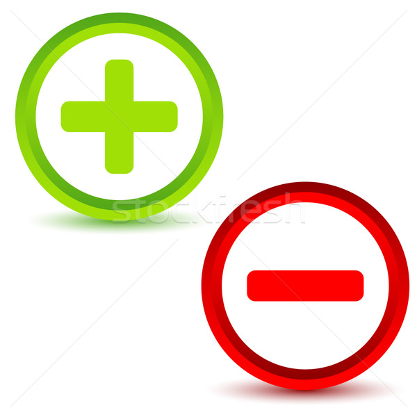 Plus and minus icons Stock photo © ylivdesign
