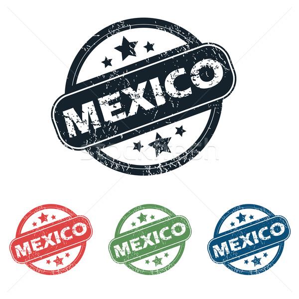 Mexikóváros bélyeg szett négy bélyegek név Stock fotó © ylivdesign