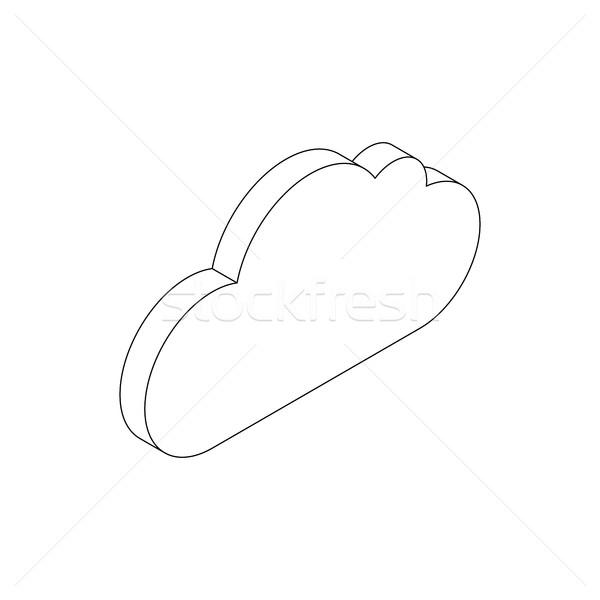 Cloud icon, isometric 3d style Stock photo © ylivdesign