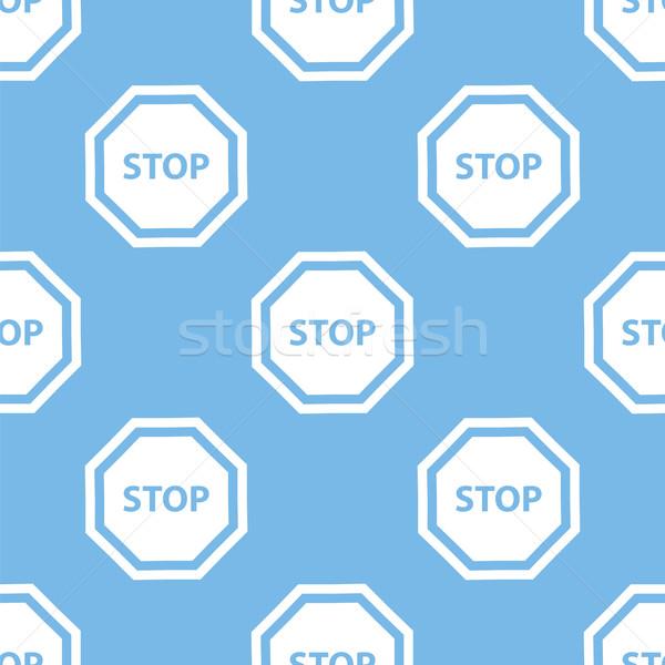 Stop seamless pattern Stock photo © ylivdesign