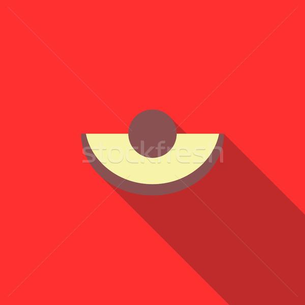 アボカド スライス アイコン スタイル 長い 影 ストックフォト © ylivdesign