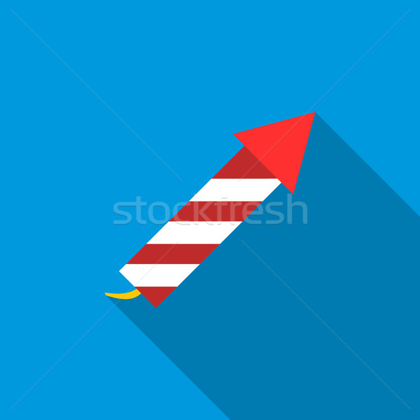 Party popper icon, flat style Stock photo © ylivdesign