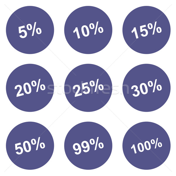 Discounts icons set Stock photo © ylivdesign
