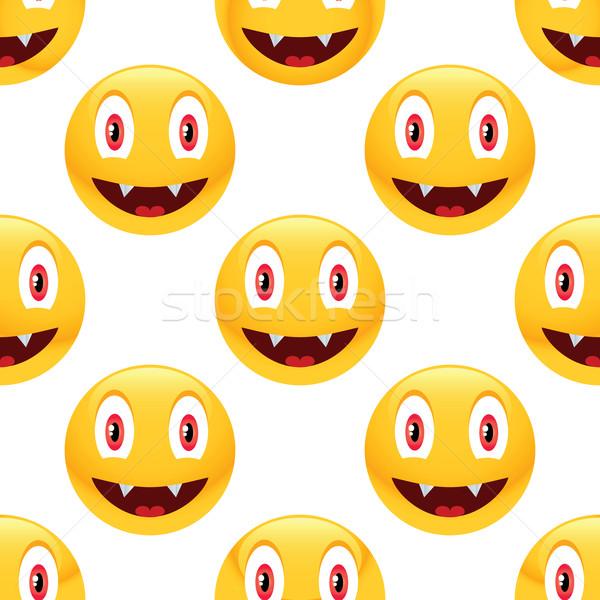 Vampire emoticon pattern Stock photo © ylivdesign