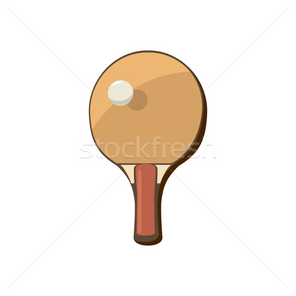Racket for playing table tennis icon Stock photo © ylivdesign