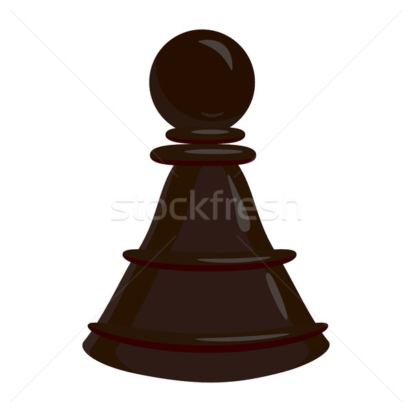 Schaken pion icon cartoon stijl witte Stockfoto © ylivdesign