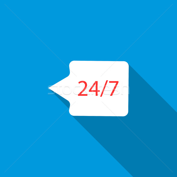 24 hour technical support chat bubble icon Stock photo © ylivdesign