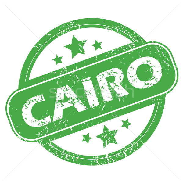 Cairo green stamp Stock photo © ylivdesign