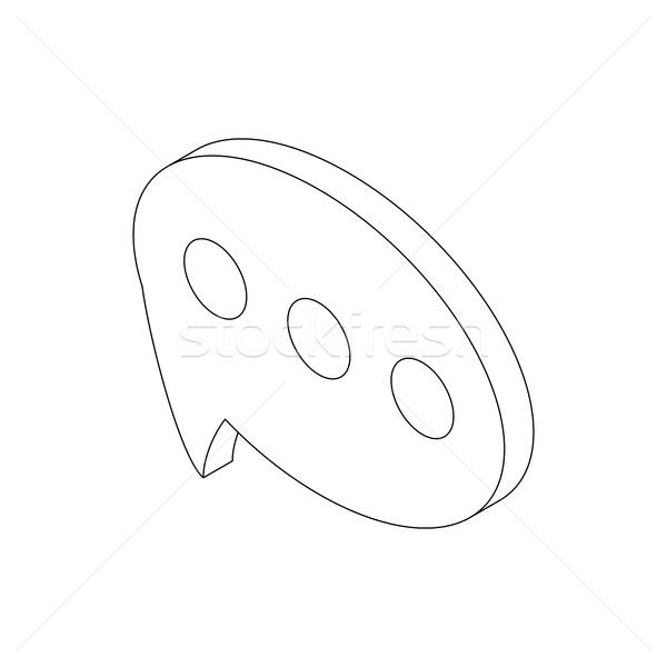 Tekstballon icon isometrische 3D stijl geïsoleerd Stockfoto © ylivdesign