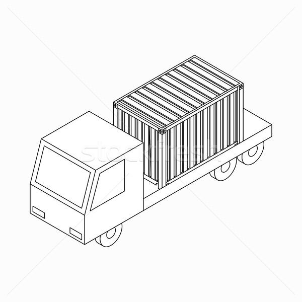 貨物 コンテナ トラック アイコン アイソメトリック 3D ストックフォト © ylivdesign