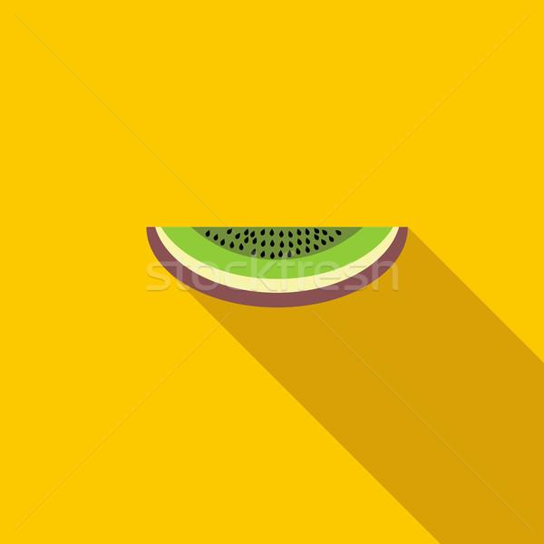 киви икона стиль долго тень продовольствие Сток-фото © ylivdesign