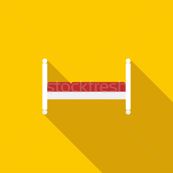 Stock photo: Bed icon, flat style