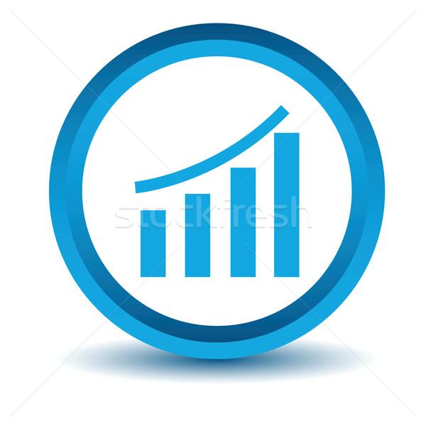 Mavi grafik ikon beyaz grafik düğme Stok fotoğraf © ylivdesign