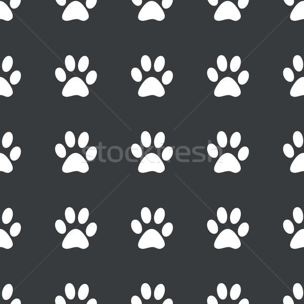 Straight black paw pattern Stock photo © ylivdesign