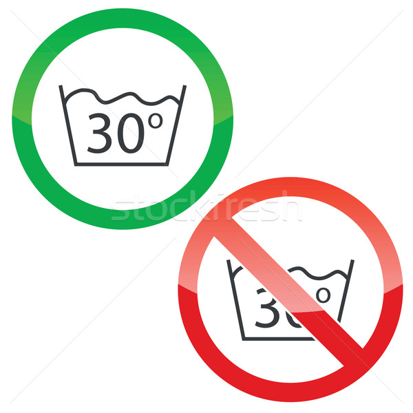 30 degrees wash permission signs Stock photo © ylivdesign