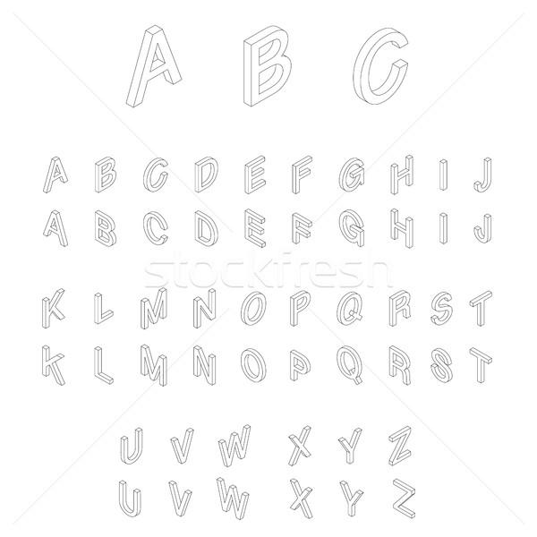 アイソメトリック アルファベット フォント 3D 文字 ウェブ ストックフォト © ylivdesign