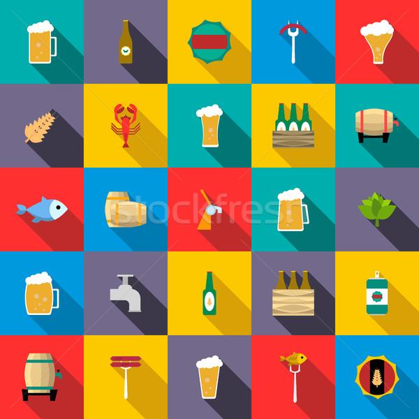 ビール スタイル レストラン 緑 バー ストックフォト © ylivdesign