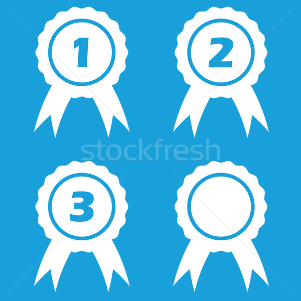Premio vector números blanco Foto stock © ylivdesign