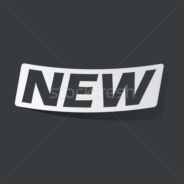 Monokróm új matrica fehér fekete szöveg Stock fotó © ylivdesign