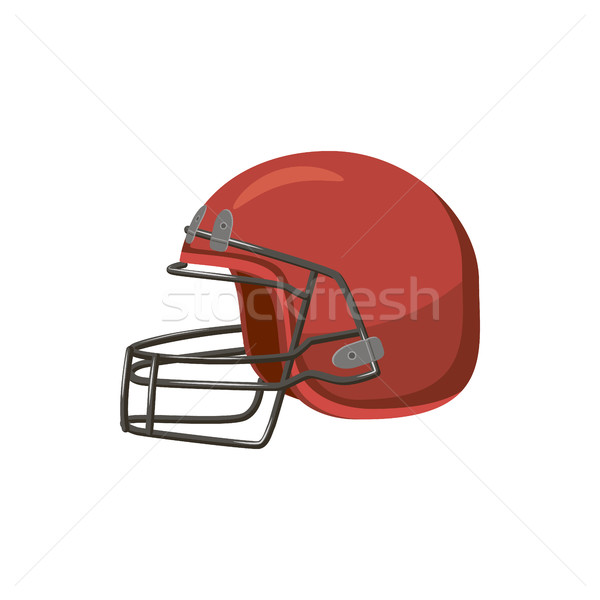 Football helmet with face mask icon, cartoon style  Stock photo © ylivdesign