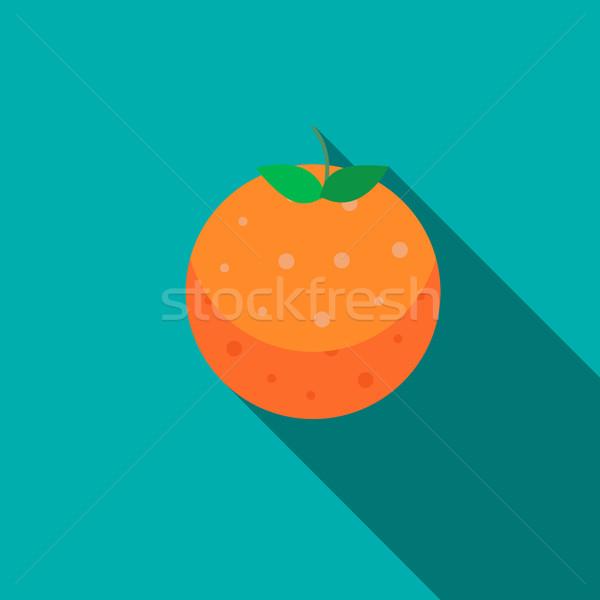 Orange fruit icon, flat style Stock photo © ylivdesign