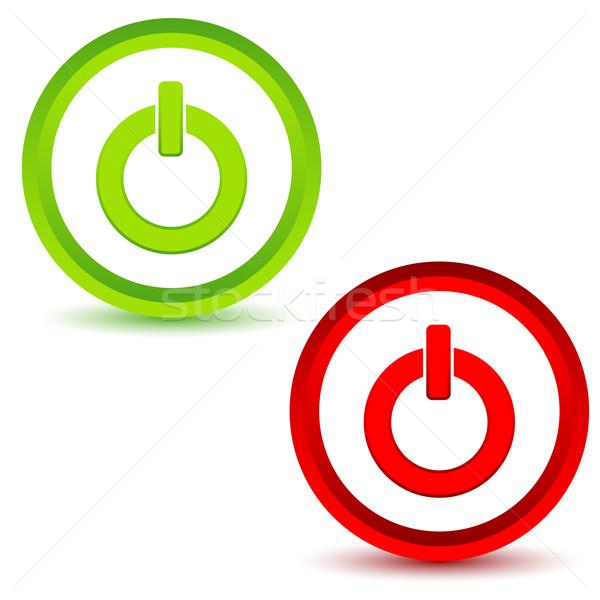 власти белый интернет зеленый красный Сток-фото © ylivdesign