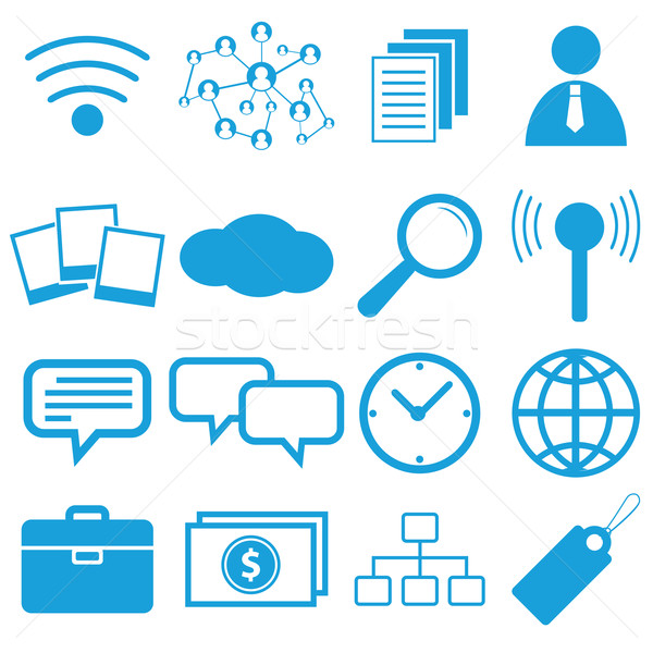 ウェブデザイン シンボル セット 孤立した 白 ビジネス ストックフォト © ylivdesign