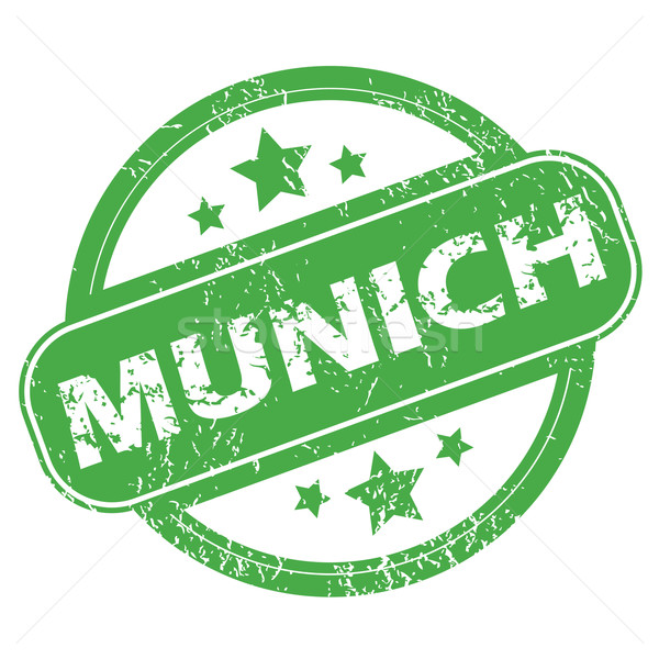 Мюнхен зеленый штампа название звезды Сток-фото © ylivdesign