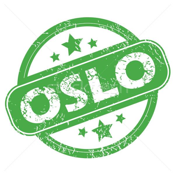 オスロ 緑 スタンプ 名前 星 ストックフォト © ylivdesign
