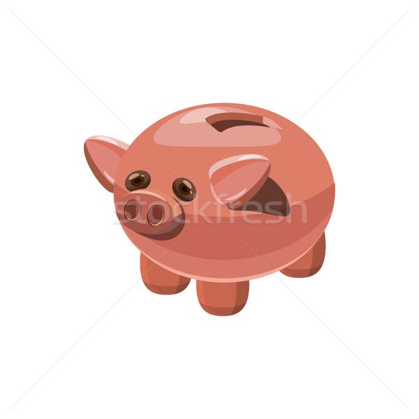 Piggy bank icon, cartoon style Stock photo © ylivdesign