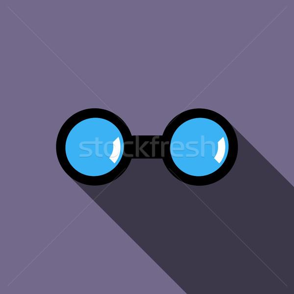 Ikona stylu fioletowy świetle morza czarny Zdjęcia stock © ylivdesign