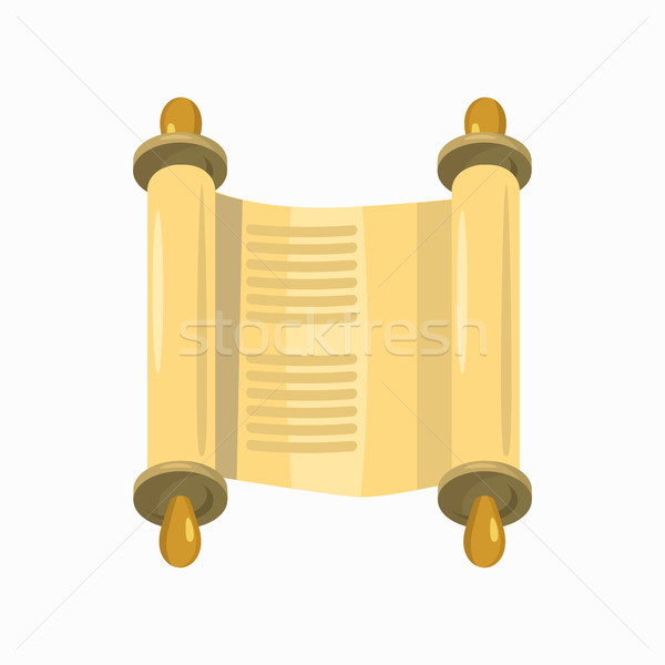 Scroll icon cartoon stijl vorm geïsoleerd Stockfoto © ylivdesign