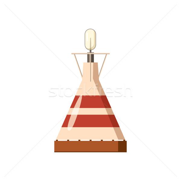 Portable Gas Symbol Karikatur Stil weiß Stock foto © ylivdesign