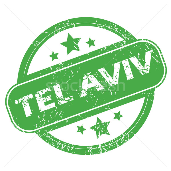 Tel Aviv green stamp Stock photo © ylivdesign