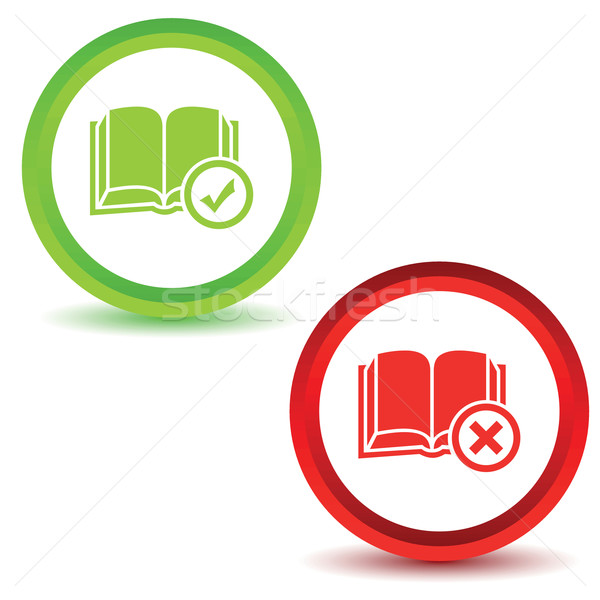 Two book manage icons Stock photo © ylivdesign