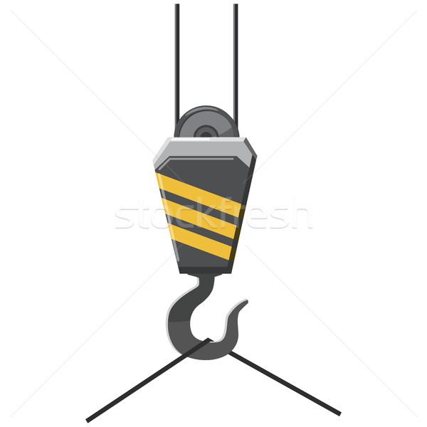 állvány kampó ikon rajz stílus fehér Stock fotó © ylivdesign
