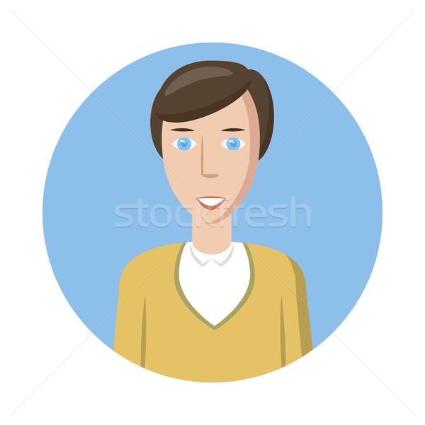 Man avatar icon, cartoon style Stock photo © ylivdesign