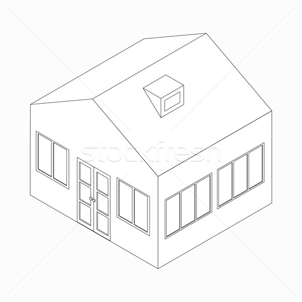 Big detached house icon, isometric 3d style  Stock photo © ylivdesign