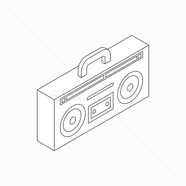 Cassette recorder icon, isometric 3d style Stock photo © ylivdesign