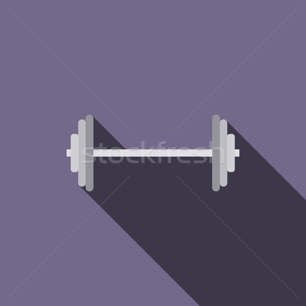 Barbell icon in flat style Stock photo © ylivdesign