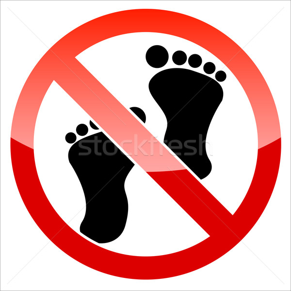Prohibition signal feet Stock photo © ylivdesign
