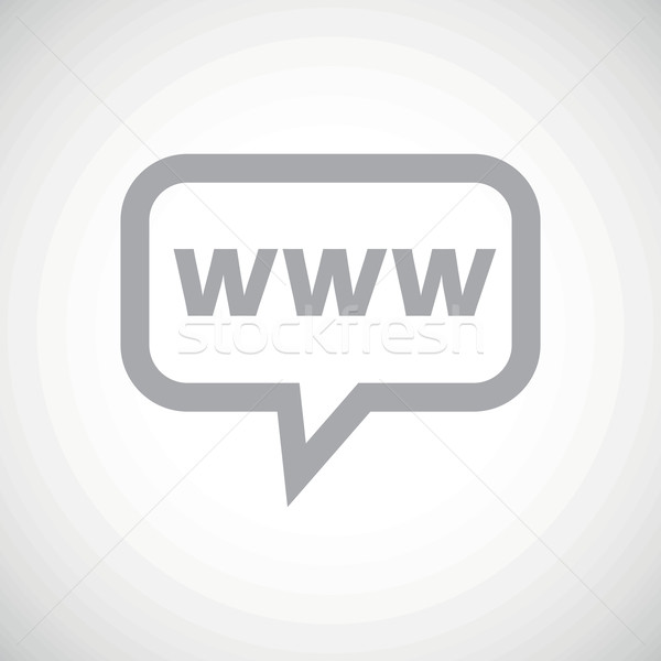 Www grijs bericht icon tekst chatten bubble Stockfoto © ylivdesign
