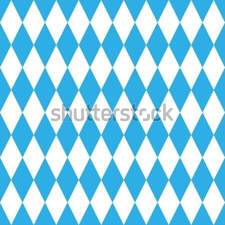Oktoberfest kék minta mértani végtelenített fehér Stock fotó © ylivdesign