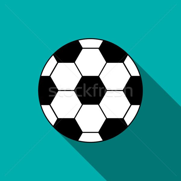 サッカーボール アイコン スタイル 青 デザイン サッカー ストックフォト © ylivdesign